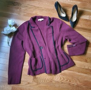 ⚘Loft Maroon Cardigan 100% cotton
